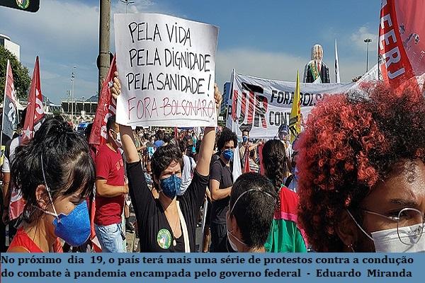Brasil lidera mortes por covid-19 em 2021. Total de vítimas se aproxima de 490 mil